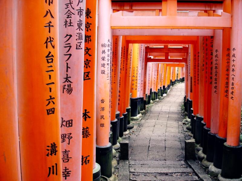 Kyoto Japan Fushimi Inari Shrine Torii gate