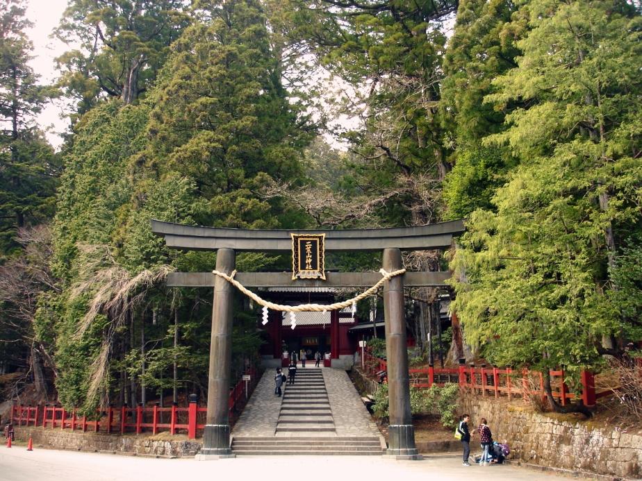 Nikko torii gate unesco japan