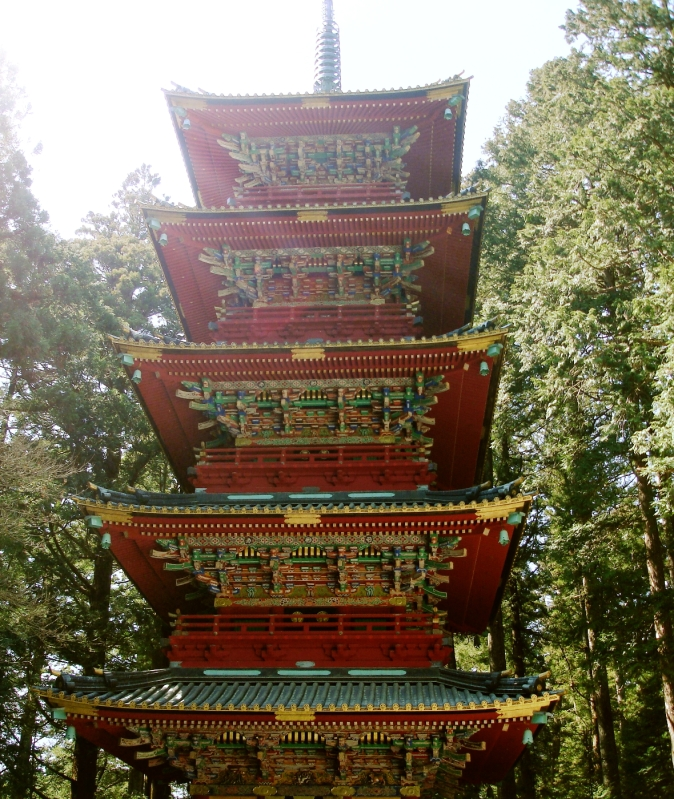 Nikko Japan five storied pagoda  Gojunoto Japán Giappone