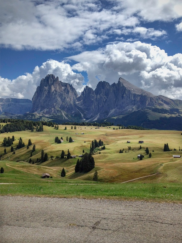 Alpe di siusi Dolomites Hiking Mountain Bike