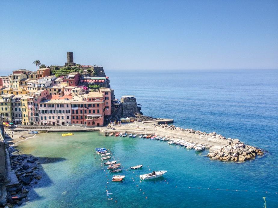 Cinque Terre, La Spezia, Italy, Vernazza, Beach