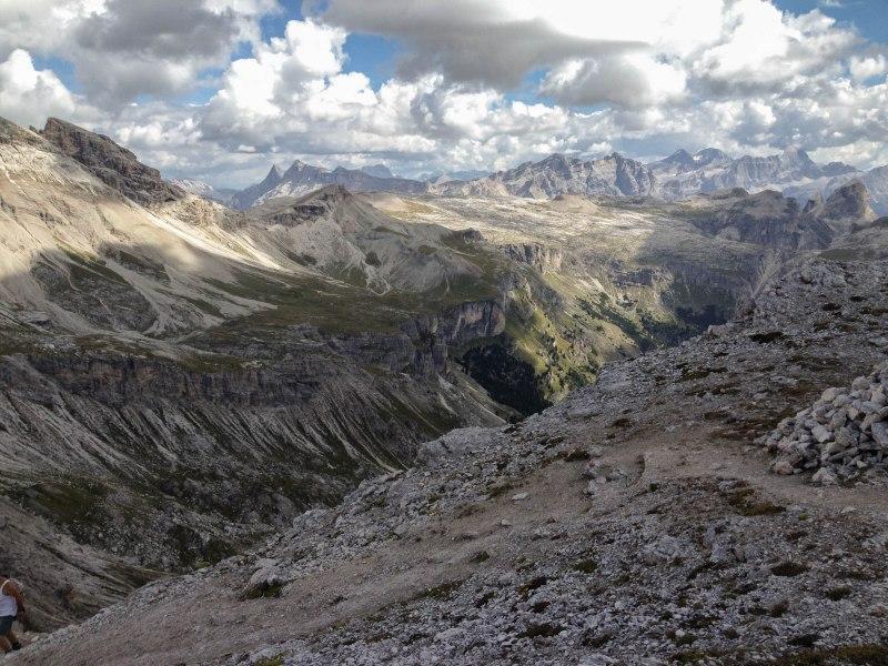 Hiking Ortisei santa Chritstina Dolomites Italy