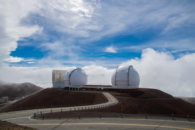 usa hawaii big island mountain mauna kea observatories telescopes