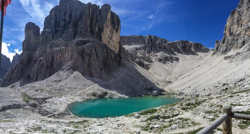 Italy Val Gardena Dolomites Via Ferrata Tridentina Hiking Climbing