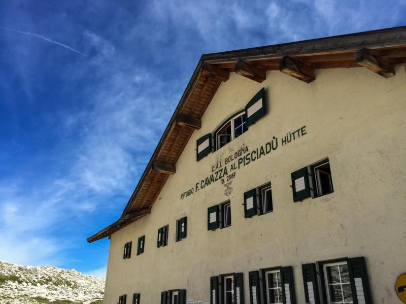 Italy Val Gardena Dolomites Via Ferrata Tridentina Hiking Climbing Pisciadu