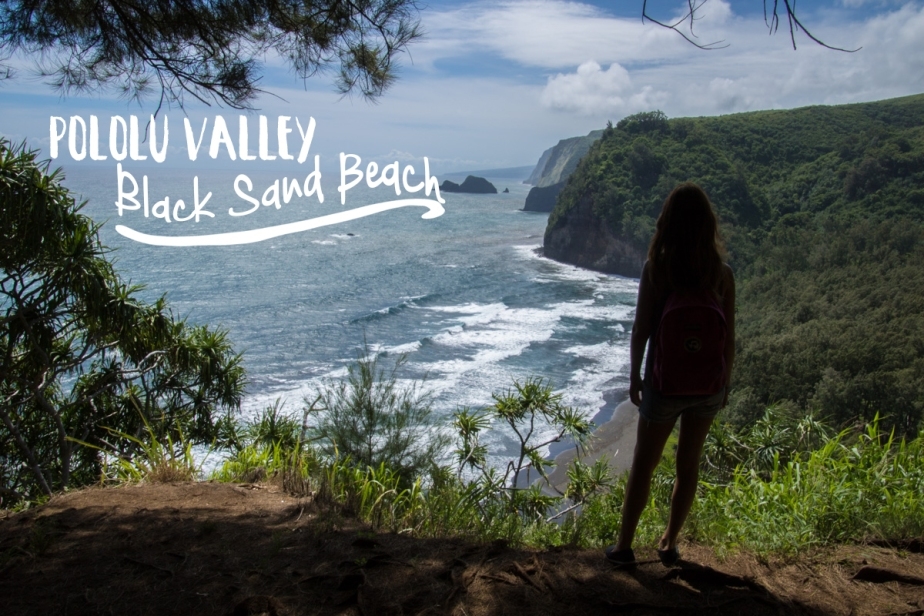 hawaii big island pololu valley black sand back lookout