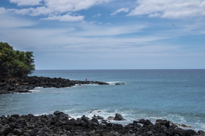 usa hawaii big island poll valley lookout black sand beach lava