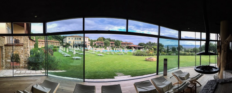 Italy Tuscany Val d'Orcia Bagno Vignoni Adler Panoramic Relax