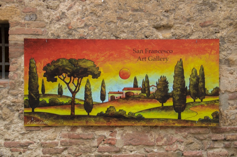Italy Travel Montepulciano Art