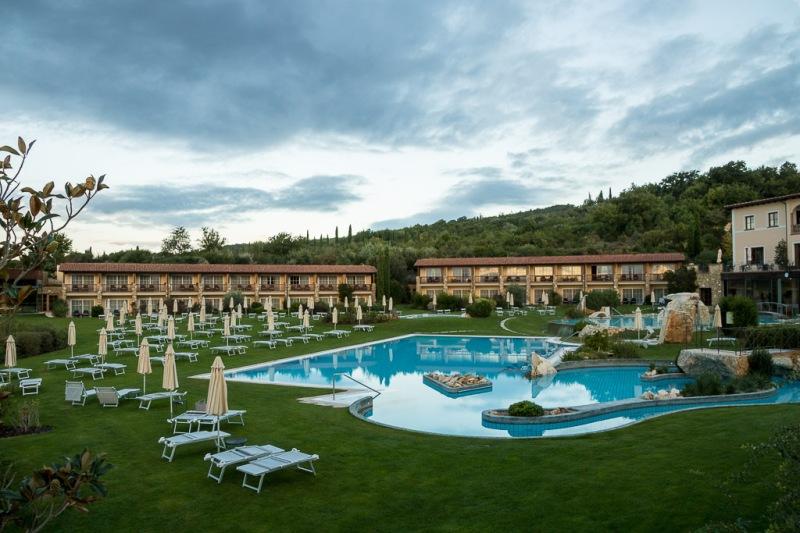 Italy Tuscany Val d'Orcia Bagno Vignoni Adler Pool