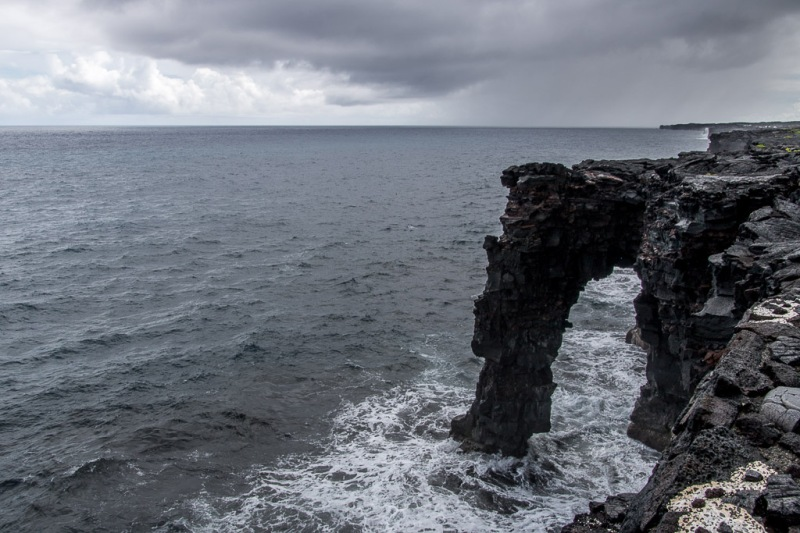 hawaiibig island volcano national park hold sea arch