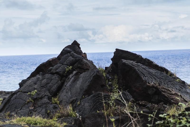 hawaiibig island volcano national park crater lava at sea
