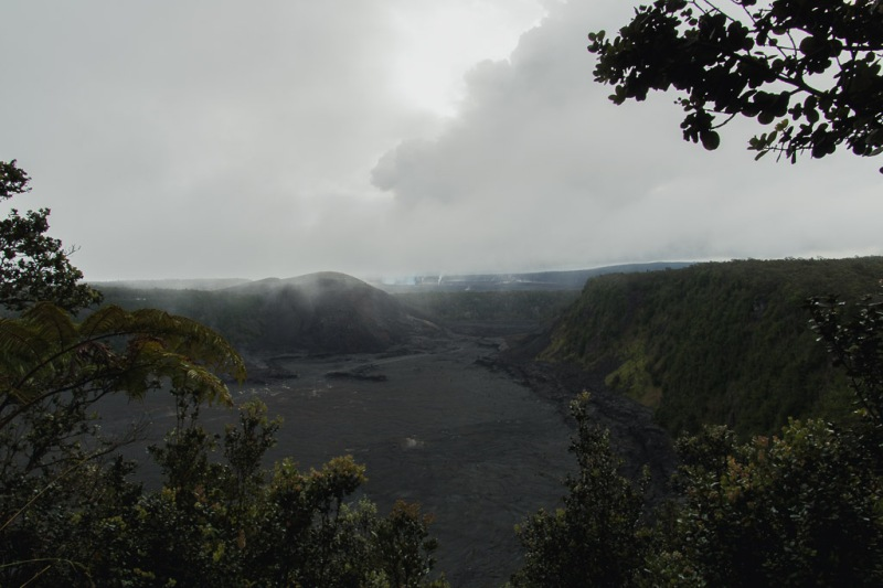 hawaiibig island volcano national park crater fossil