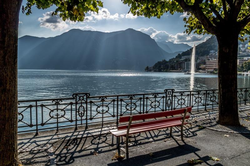 Switzerland Ticino Lugano Lake Walk Travel