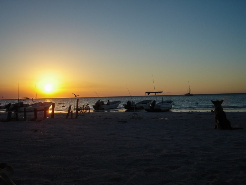 Mexico Holbox Beach Sunset