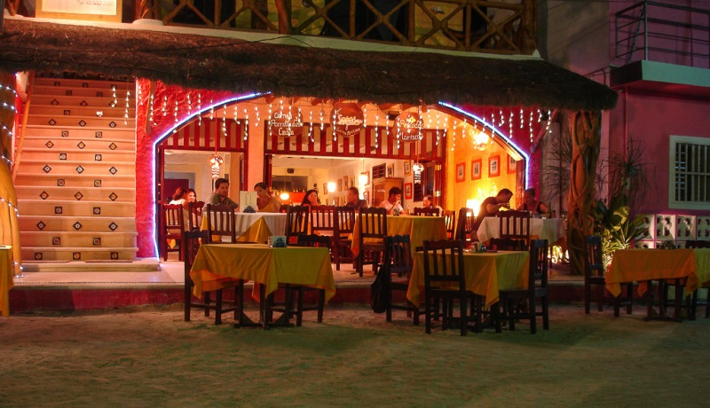 Mexico Holbox Night Restaurant