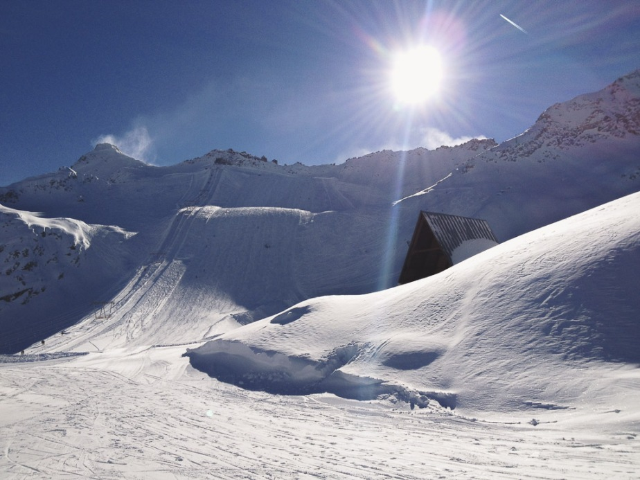 Italy Tonale Ski Slope
