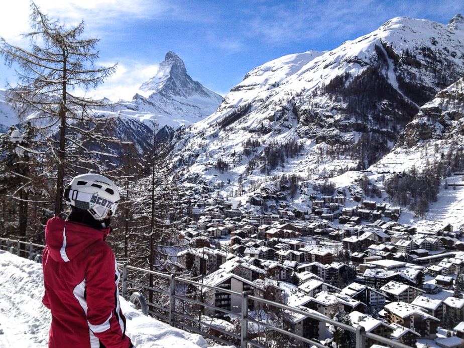 Zermatt Switzerland Skiing Winter