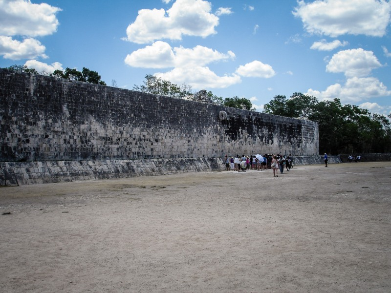 Chicen Itza Mexico Yucatan Ball court