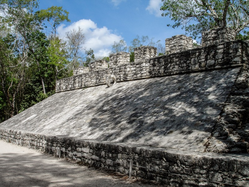 Coba Mexico ball court