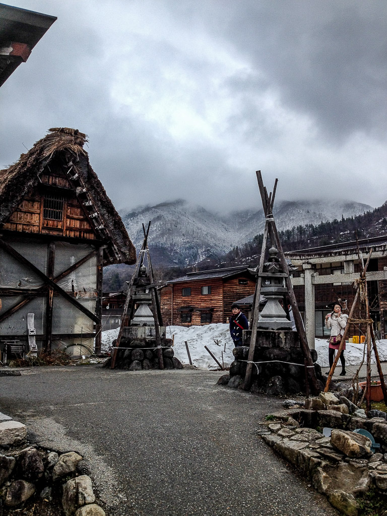 Japan Shirakawa-go village Alps