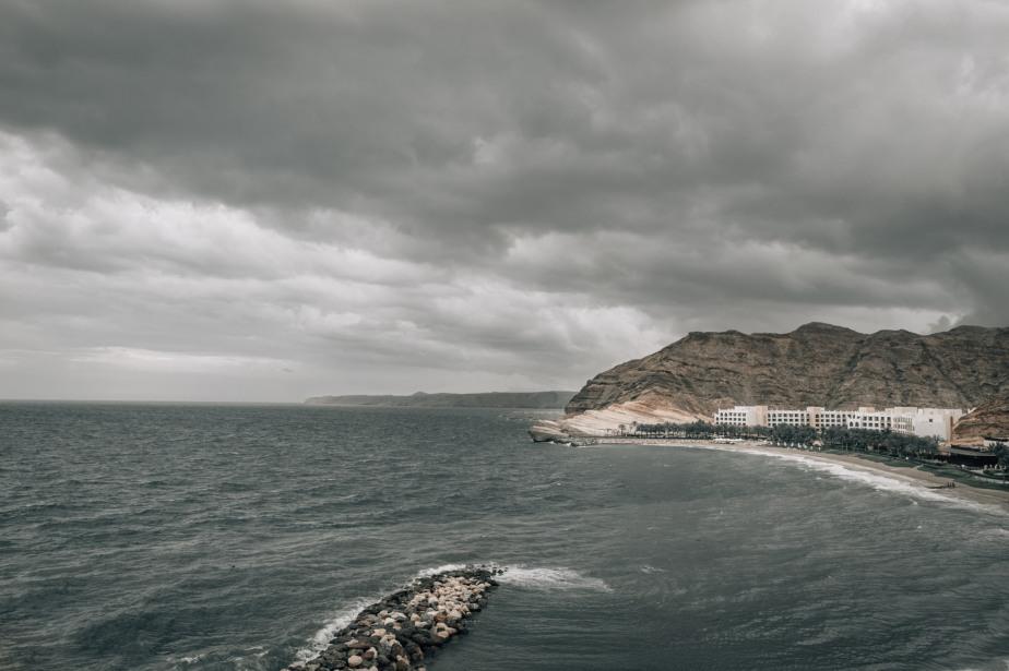Muscat Oman Sea storm