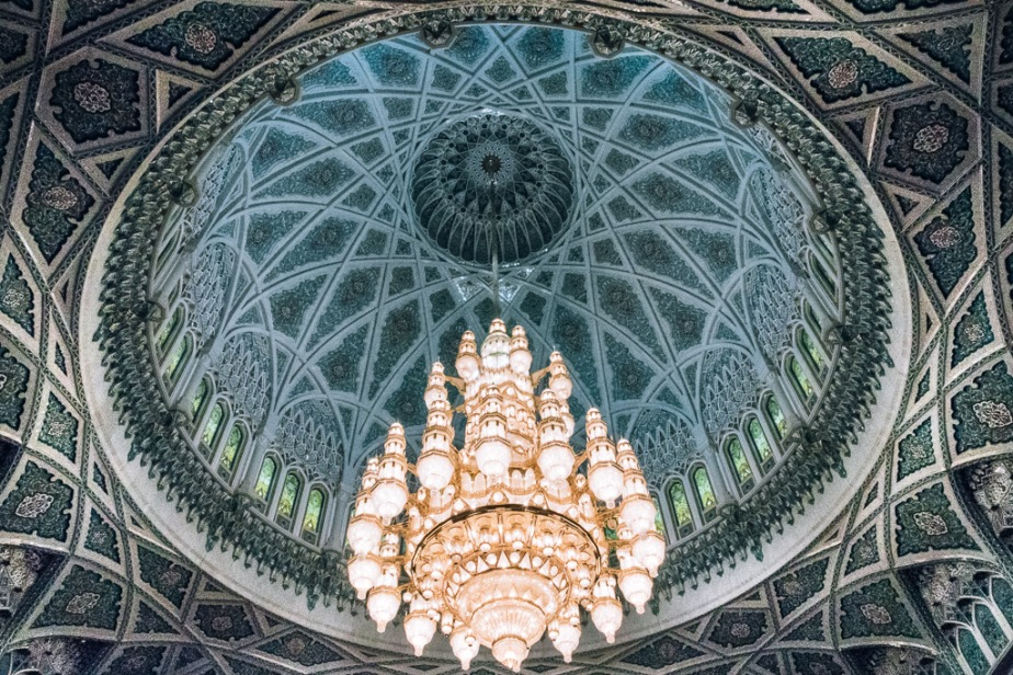 Chandelier Sultan Qaboos Grand Mosuqe Muscat