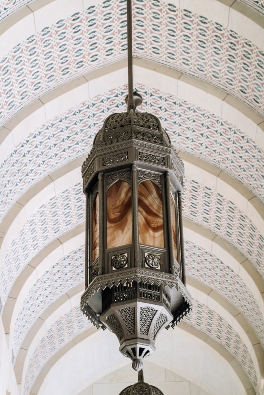 Lantern in Sultan Qaboos Grand Mosuqe Muscat