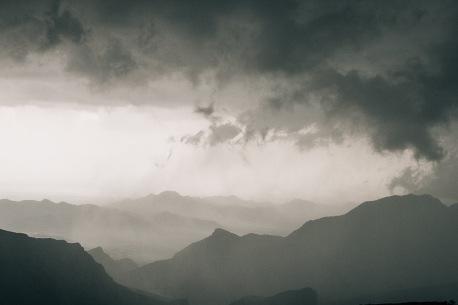 Storm at Jabal Akhdar Oman