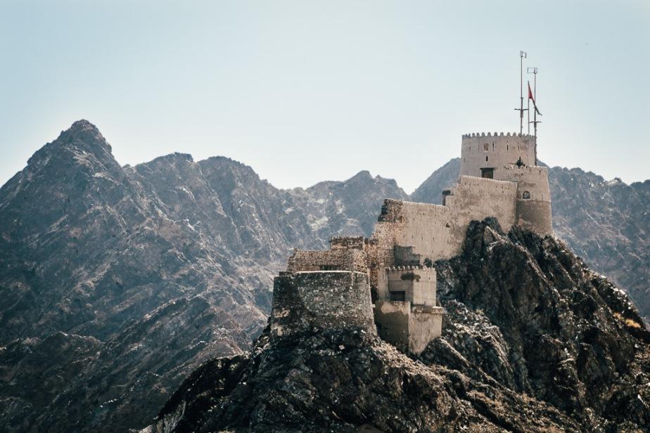 Castle at Port Sultan Qaboos Muscat Oman