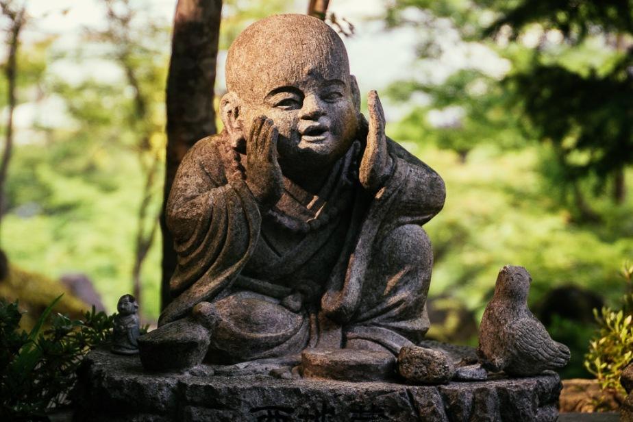 Statue at Daisho-in, Miyajima, Japan
